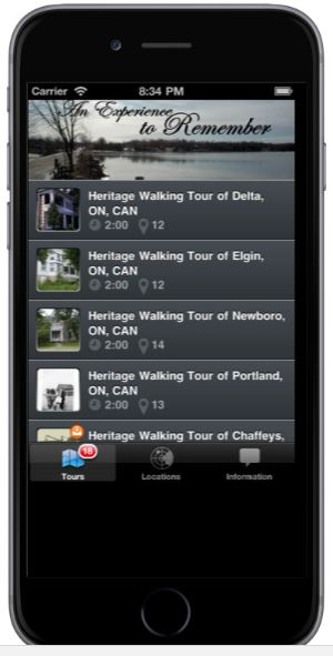 Revel in the Rideau Lakes Apple and Android app