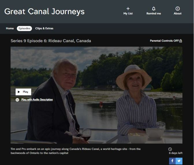 Great canal journeys – Rideau canal