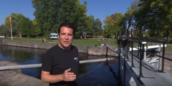 Rick Mercer on the Rideau Canal